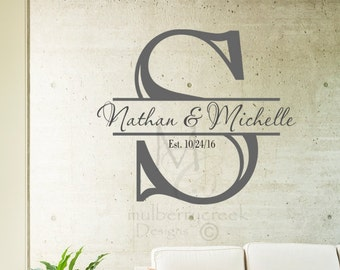 Personalized Vinyl Decal/Initial/First Names//Custom Vinyl Decor