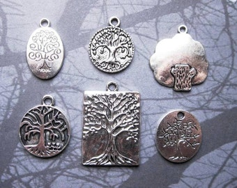 Tree Charm Collection in Silver Tone - C2314