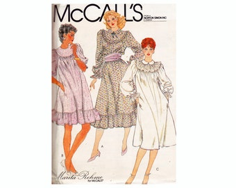 Gibson Girl Granny Dress Pullover Smock 3 lengths Size Med 14-16 Bust 36-38 McCalls 8390 80s UNCUT sewing pattern
