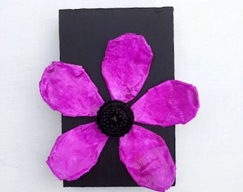 Folk Art Flower on Wood