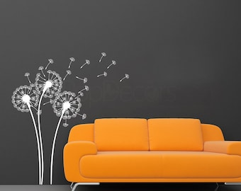 Dandelions Wall Decal- Flower wall decal baby girl room decal living room decal wall sticker PT-0102