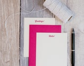 Custom Message Stationery -Thirsty Font - Custom Color & Message