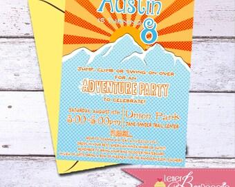Adventure Theme Birthday Party Invitation