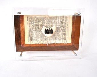Write Order - Assemblage Wood Paper Metal Stone