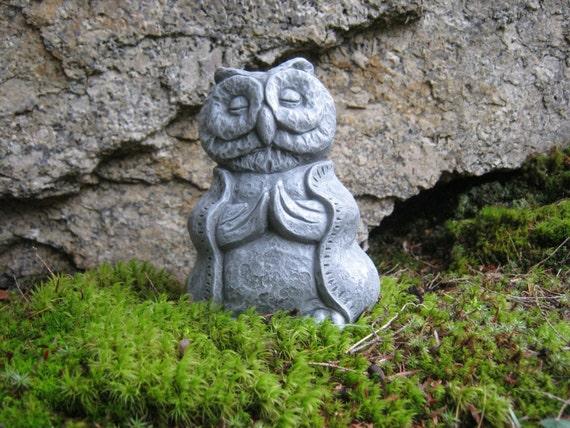 Owl Statue Buddha Like Owl Wise Owl Buddha Meditating Owl