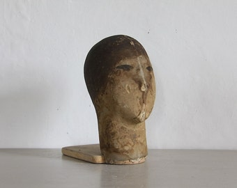 Antique French Mannequin Head Form Siegel Stockman, Wig Display, Hat Display