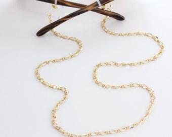 Eyeglass Chain - Gold Eyeglass Chain - Glasses Chain -Lanyard - Gold Lanyard - Eyeglass Necklace - eyeglass lanyard - Eyeglass Holder