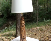 Beautiful Hand Turned White Ash Lamp from BlackWater Workshops