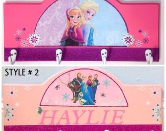 kids coat rack, Childrens coat rack, frozen coat rack, Princess room decor, girls coat rack, Frozen room decor, Frozen room signs