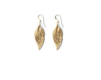 Heliotrope Earrings - Dangle Leaf Earrings -  Minimalist Jewelry - Boho Earrings - Statement Earrings - Bohemian Jewelry - Gift for Her