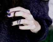Sterling Silver Above Knuckle Ring - Gothic Midi Ring - Wire Wrapped Jewelry - Plain Silver Collection