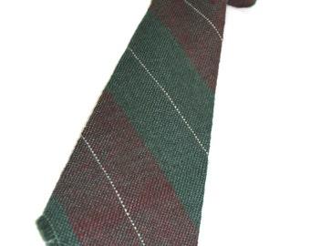 """vintage 30's - 40's Men's -Burro Weavers- necktie. Coarse woven wool """"Hand Loomed in Old Santa Fe"""" New Mexico. Wide stripe"""