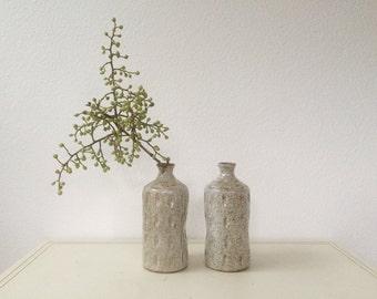 vintage pottery bud vases