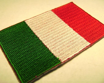 Italy Souvenir Embroidered Patch Fabric Sewing Shield Flag Vintage Italian