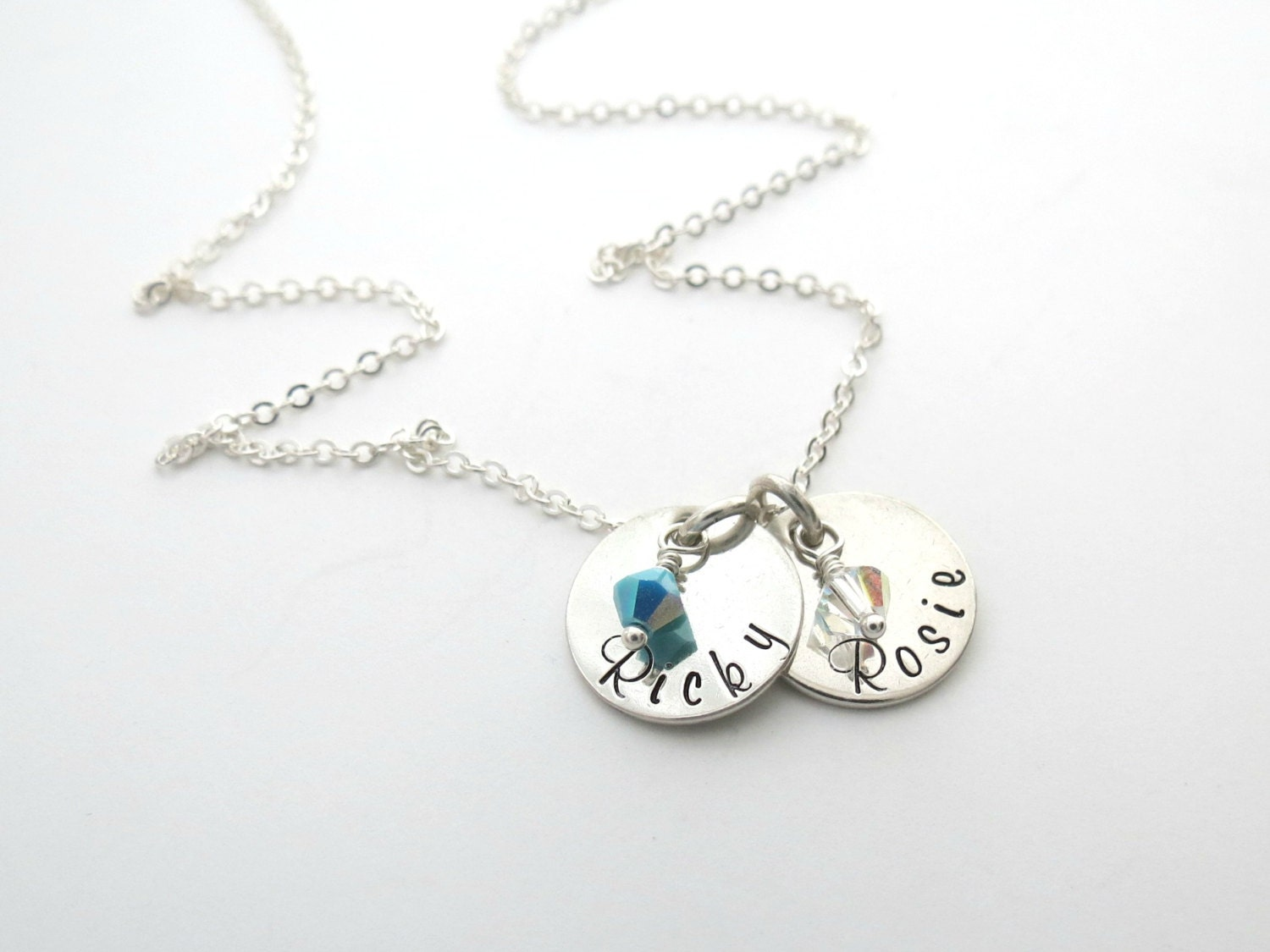 personalized necklace birthstones jewelry kids name. Black Bedroom Furniture Sets. Home Design Ideas