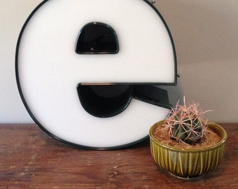 Reclaimed Metal letter - e