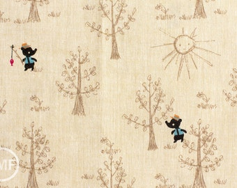 Little Bear in Sand, Putidepome Outdoor Kids, Designed by Mico O, Made in Japan, 100% Cotton Fabric, PTMF-083