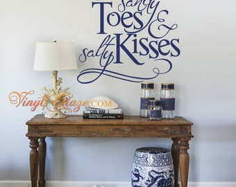 Sandy Toes & Salty Kisses - Wall Decal