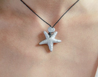 Silver Starfish Replica Necklace / Starfish Jewelry / Adjustable Necklace / OOAK