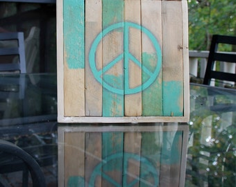 Bohemian rustic distressed Peace Sign