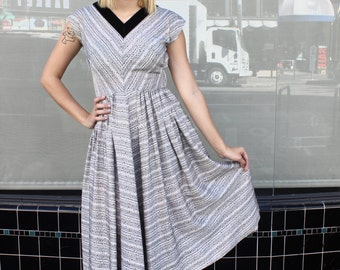 Vintage 50's Polka Dot Taffeta Party Dress