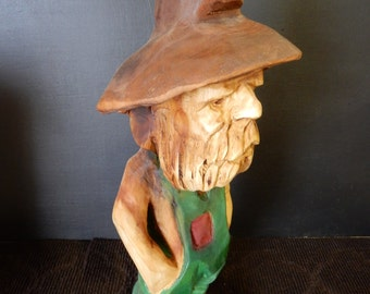 Hillbilly, chainsaw carving sculpture wood art