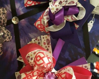 """5.5"""" Princess Stacked Boutique Bow"""