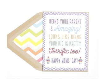 Being Your Kid- Mother's Day Card, Mom, Gay with Kids, Lesbian, LGBT, for her, wife, girlfriend, same sex