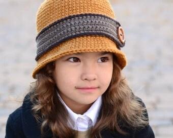 CROCHET PATTERN - Uptown Girl - cloche hat pattern, crochet hat pattern, bowler hat pattern 8 sizes (Infant - Adult) - Instant PDF Download