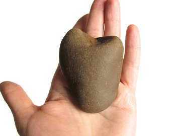 Heart Shaped Pebble - Natural River Love Stone - Valentine - Wedding Decor - Romantic Gift
