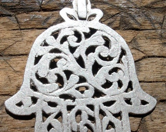 Tunisian (tested) silver hand made filigree  Hand  pendant on tie