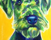 Airedale Terrier, Pet Portrait, DawgArt, Dog Art, Pet Portrait Artist, Colorful Pet Portrait, Airedale Art, Art Prints