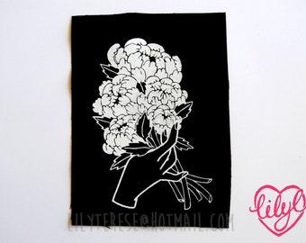 SALE Peony Bouquet Patch