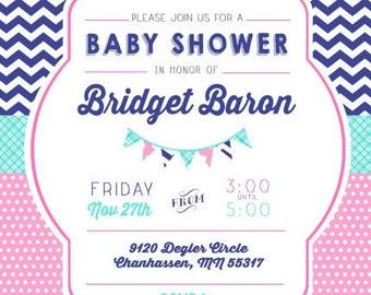Fish Baby Shower Invitation