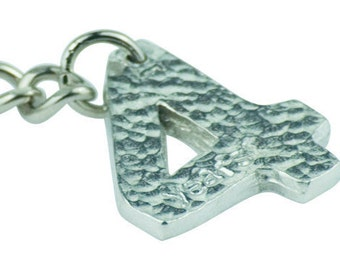 4th Year Wedding Anniversary Stamped Keyring - Lovely Unique 4 Year Anniversary Gift Idea …