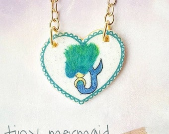 Mermaid Necklace | Kids Charm Necklace | Children's Jewelry | Beach Necklace | Cute Illustration