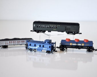 Vintage Miniature Toy Train Cars