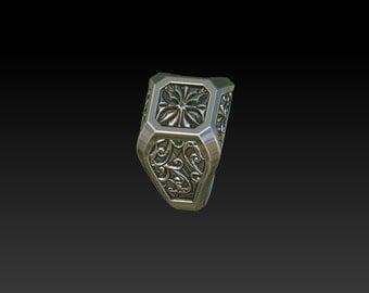 wedding ring signet ring initial ring mens ring men's ring  RS4