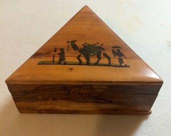 Wooden box from Jerusalem