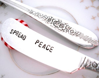 Stamped Spreader -  SPREAD PEACE - Royal Rose 1939
