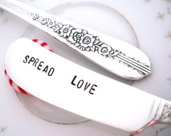 Stamped Spreader -  SPREAD LOVE - Royal Rose 1939