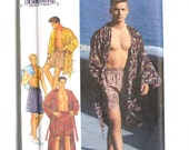 Style 2305 UNCUT men's kimono in two lengths, shorts sewing pattern, dressing gown, boxers, pants in two lengths, sizes small to large