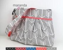 Stella Arrow Diaper Bag - Large - Arrows U CHOOSE Custom - Archery Arrow Nappy Bag Stroller Attachment