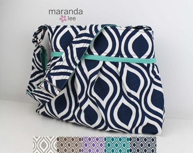 Diaper Bag - Stella Medium - U CHOOSE Pod with CUSTOM Accent- Nappy Bag Diaper Bags Attach to Stroller