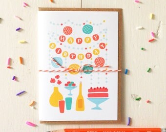 Happy Birthday Party Banner Card