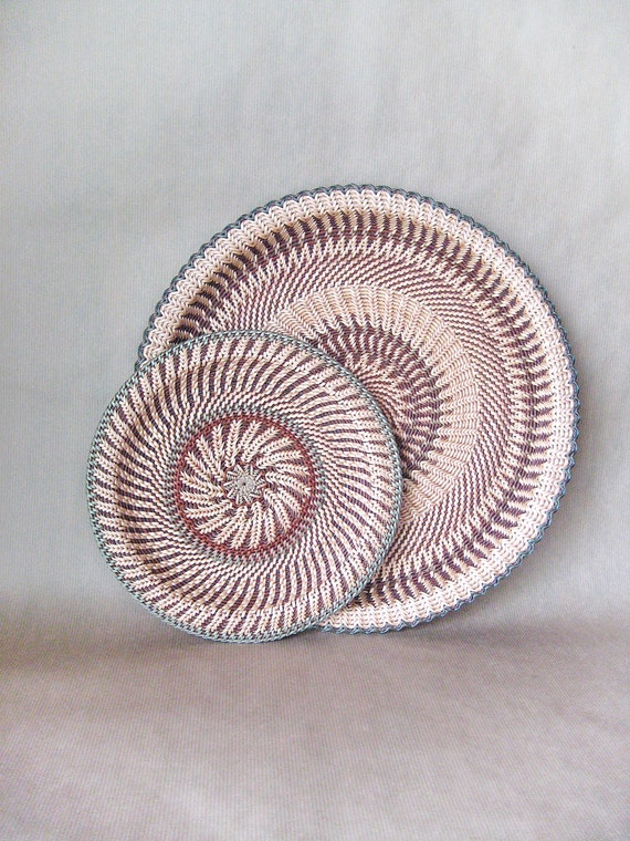 Hand Woven Wicker Wall Art Decor Ethnic Home By