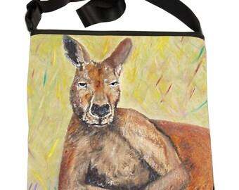 Kangaroo Large Cross Body Handbag by Salvador Kitti - Support Wildlife Conservation, Read How