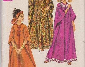 Vintage Simplicity 8354, One Size, Caftan, Misses', 1960s, Hippie