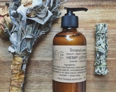 HEMP LOTION, lavender + ylang ylang, vegan body lotion