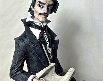 Edgar Allan Poe Statue, Painted
